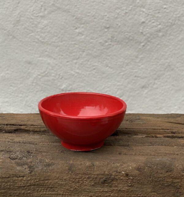 Håndlavet Keramik andalucia skål rød L