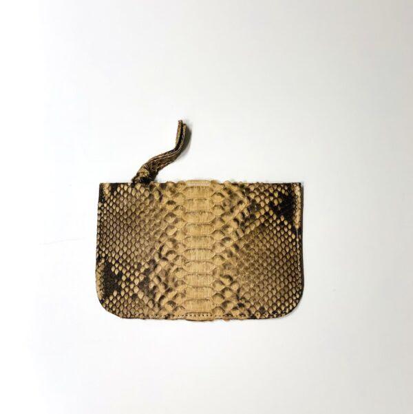 Kundalini Girls stuff pung og make-up taske cognac python skind