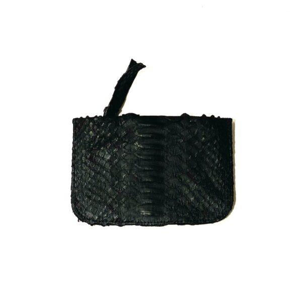 Kundalini Girls stuff pung og make-up taske sort python skind