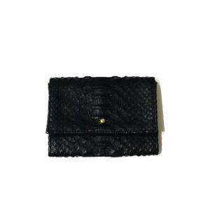 Kundalini Lady wallet pung i sort python skind