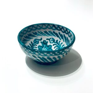Skål med multi mønster grøn M - keramik Andalucia