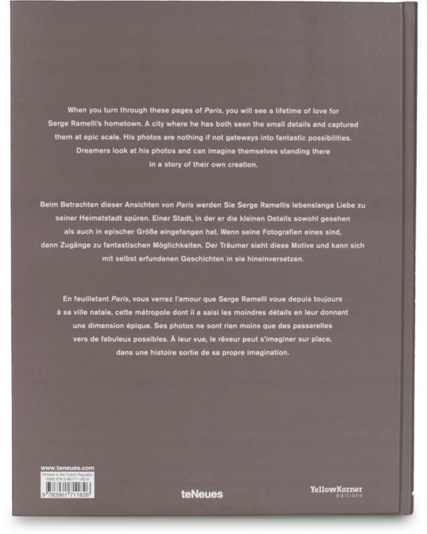 Coffee table books Paris - Serge Ramelli bagside