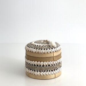 opbevaring Runde Bali kurveæsker låg - perler, konkylier - small