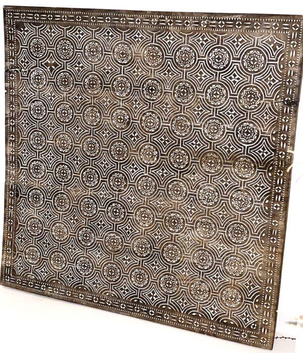 TIMOR sofabord og panel kvadratisk med runde symboler