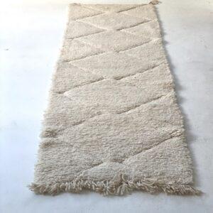 Beni Ourain hvid løber 260 x 75 cm uld