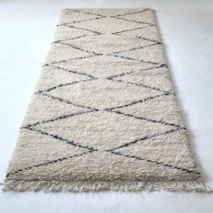 Beni Ourain tæppe løber 260 x 85 cm