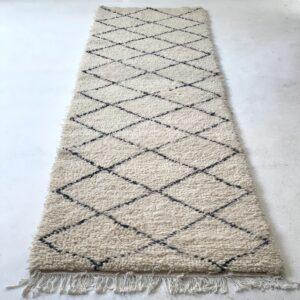 Beni Ourain tæppe løber uld 300 x 80 cm