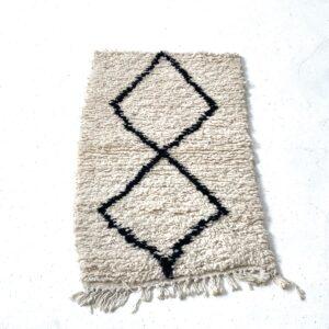 Beni Ourain gulvmåtte mini tæppe 95x45 cm