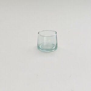 mundblæste glas til shots, snaps fyrfads lys klart genbrugsglas