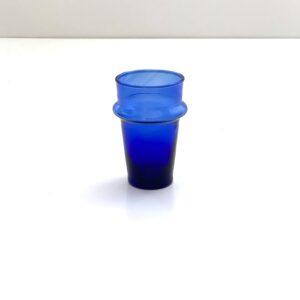 mundblæst glas genbrugsglas blåt