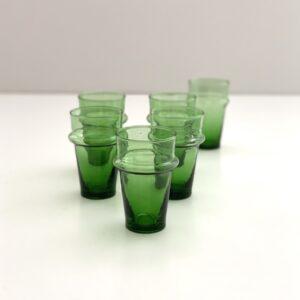 mundblæste genbrugsglas grøn marrakesh