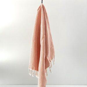 håndvævet håndklæde i tyrkiet økologisk bomuld