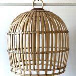 flettet lampe i bambus fra bali