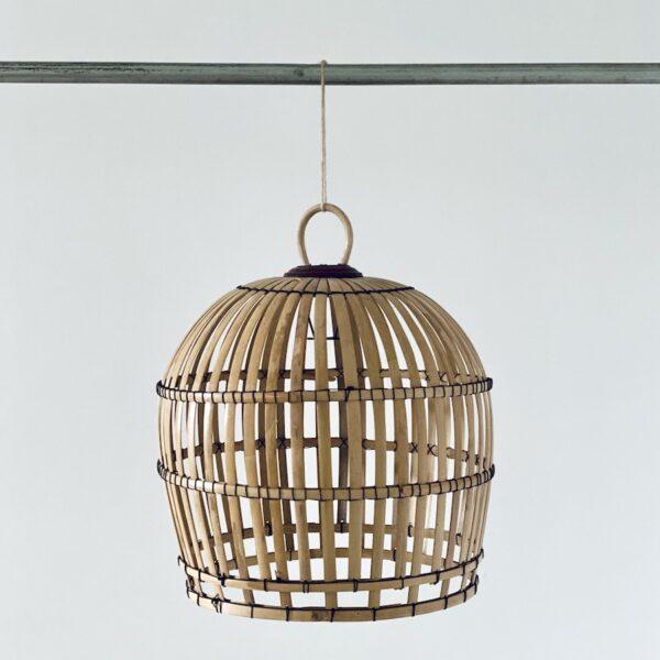 håndflettet lampe bambus fra bali