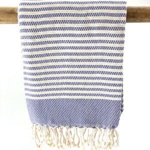 håndvævet håndklæde økologisk bomuld lilla