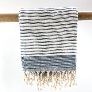 håndklæde i økologisk bomuld håndvævet