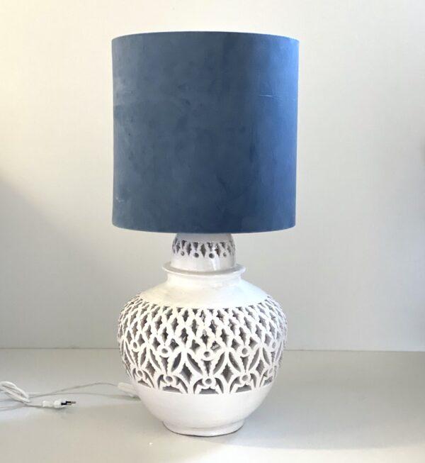 keramik andalucia lampe med mønster