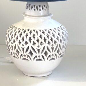 hvid lampefod håndlavet i spanien