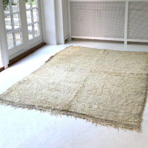 vintage kelim gulvtæppe beni Ourain marokko