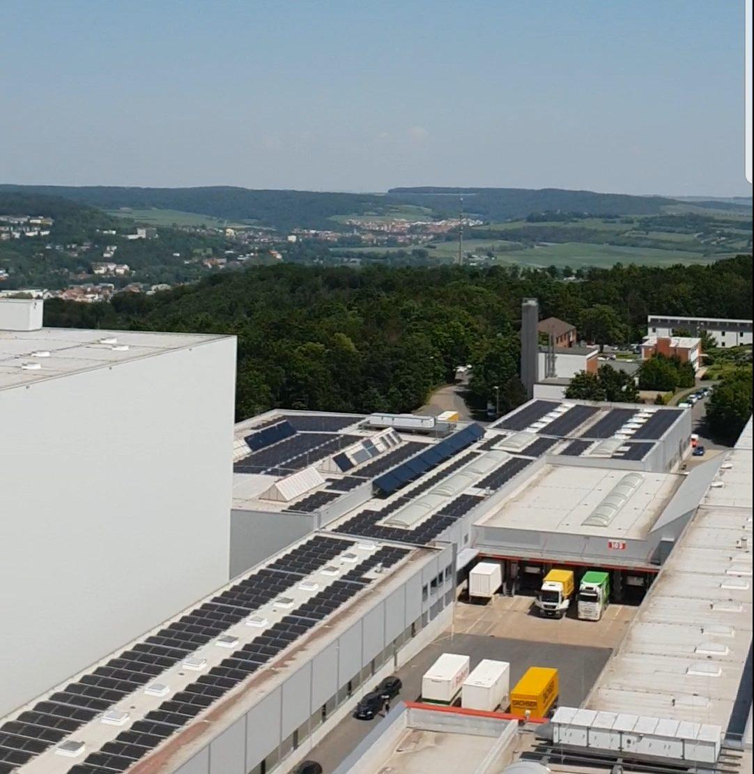 Ausblick vom Hochregal Lager von Würth in Bad Mergentheim