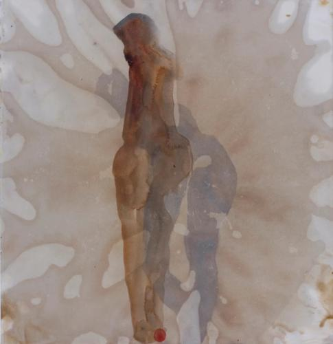 No title Bister and beewax on paper (25 x 25 cm)