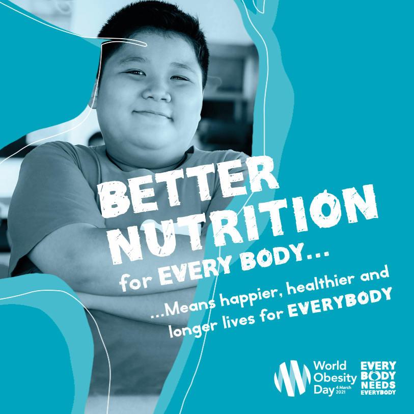 Día Día Mundial de la Obesidad 2021. Obesidad. La otra pandemia que lleva con nosotros 60 años