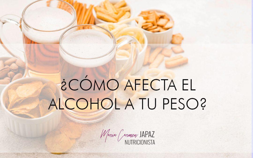 cómo afecta el alcohol a tu peso