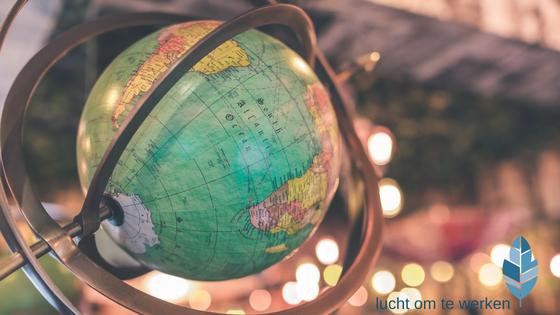 wereldbol overzicht van de wereld