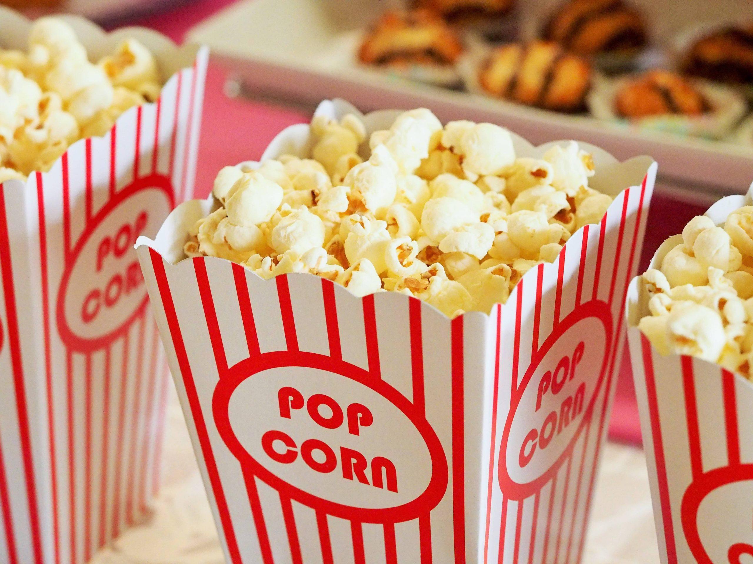 Popcorn als Snack zum Film