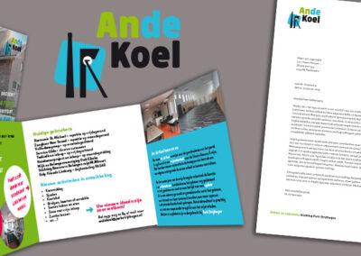 Wijkcentrum An de Koel logo, huisstijl, uitnodiging, folders