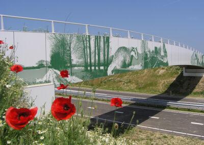 Provincie Limburg bedrukking antigraffiti-panelen