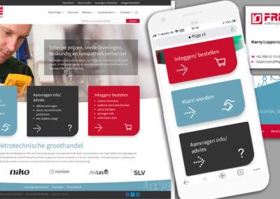 Frigé website en restyle huisstijl