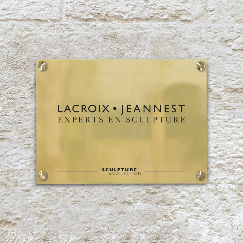 Plaque de rue Lacroix Jeannest par Marine Flohic