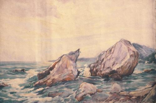 rotsen in de zee Douarnenez Frankrijk