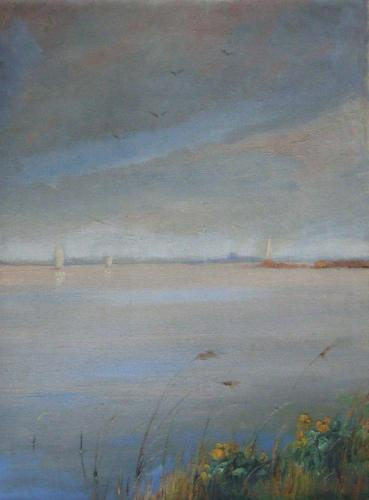 kagerplas half schilderij #e01