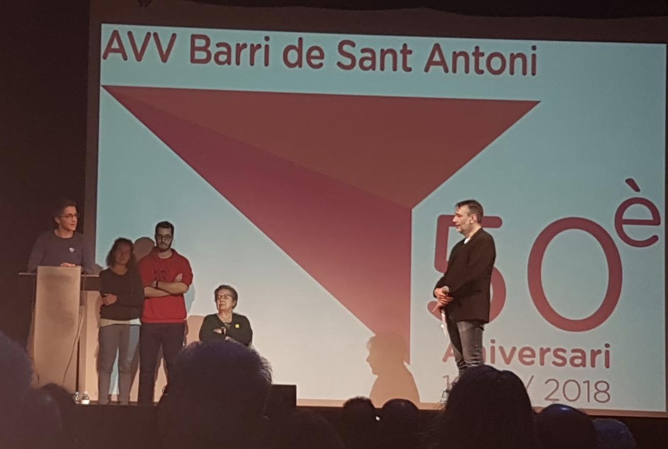 Gala Clausura del 50 aniversario de la AVV del Barrio de Sant Antoni de Barcelona.