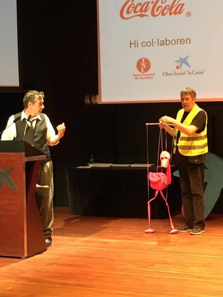 Entrega de premios organizada por el Departament d'Ensenyament de la Generalitat de Catalunya. Auditorio Caixaforum Barcelona.