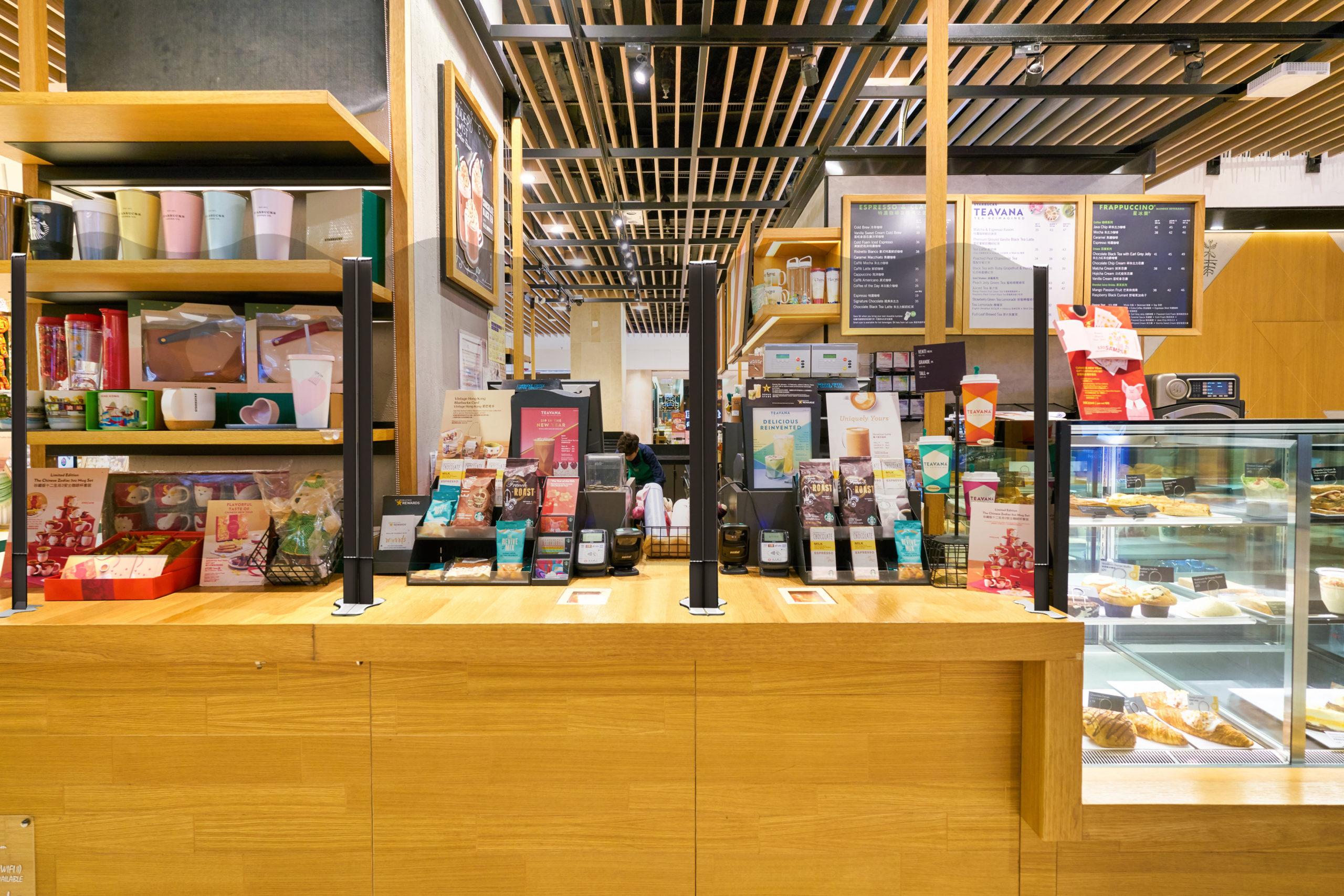 HONG KONG, CHINA - CIRCA FEBRUARY, 2019: sales area at Starbucks