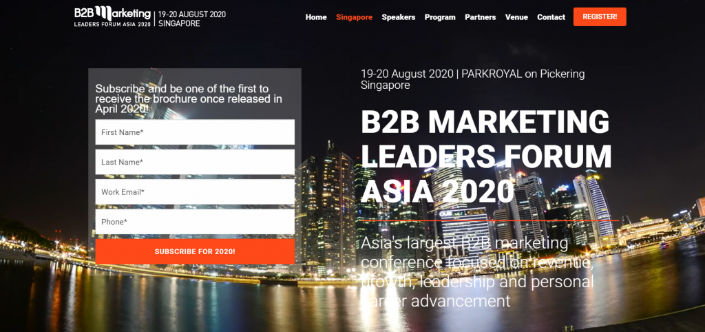 B2B MARKETING LEADERS FORUM ASIA 2020