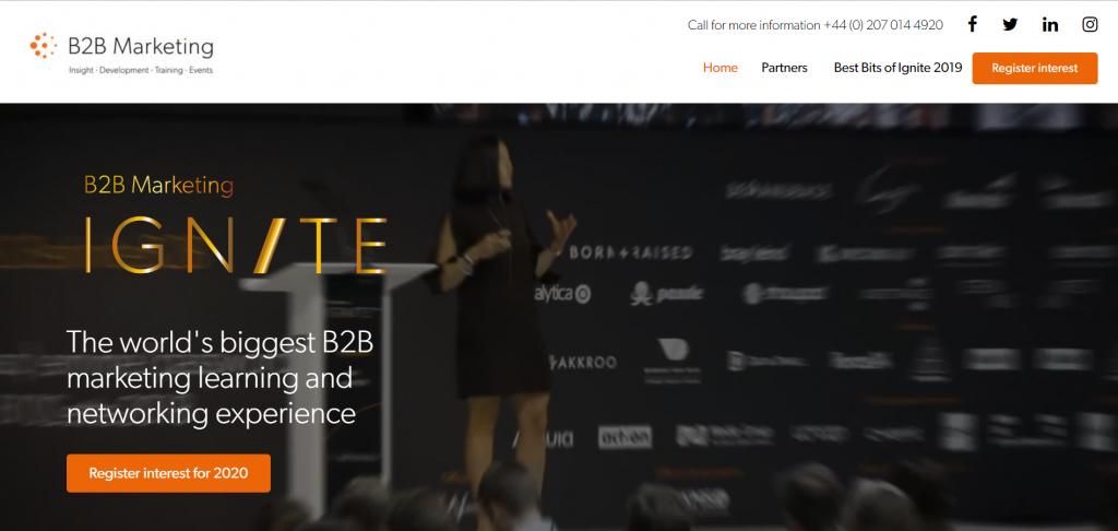 B2B Marketing Ignite London 2020