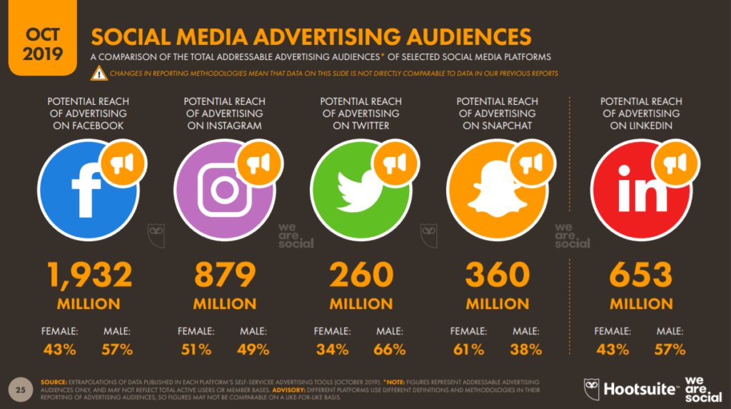 Social media advertising audiences