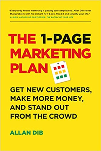 One Page Marketing Plan Book Cover