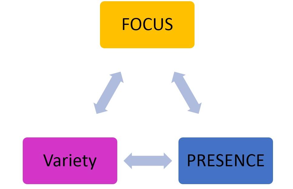 Focus - Variety - Presense