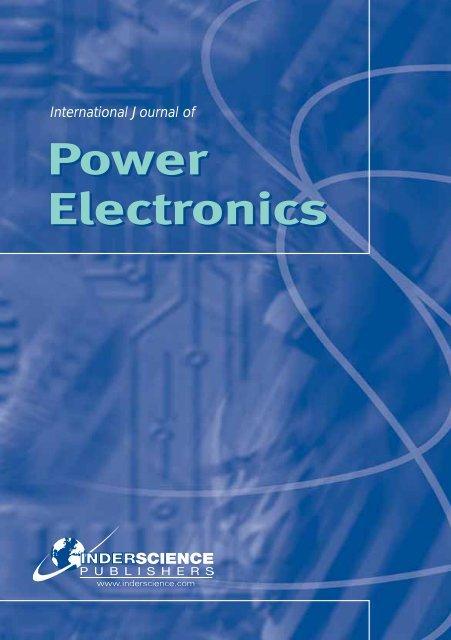 International Journal of Power Electronics