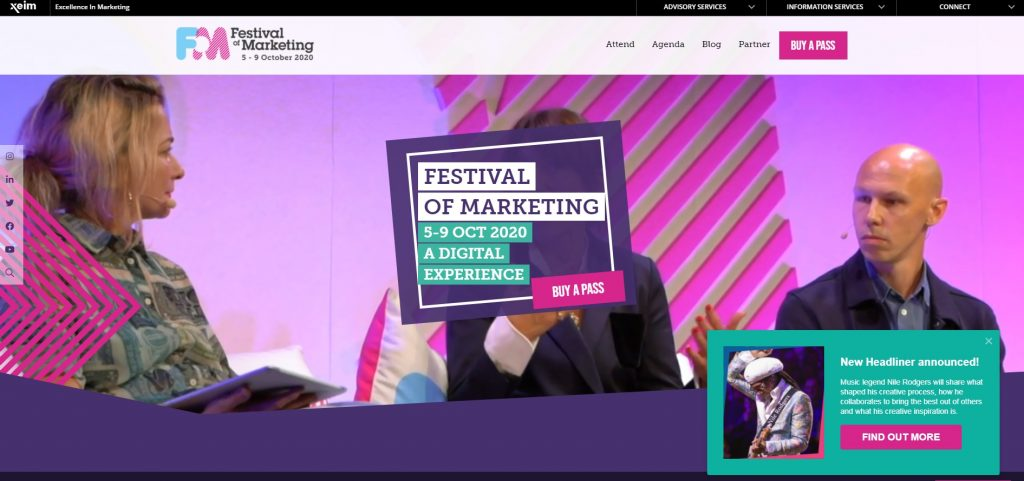 Festival of Marketing events
