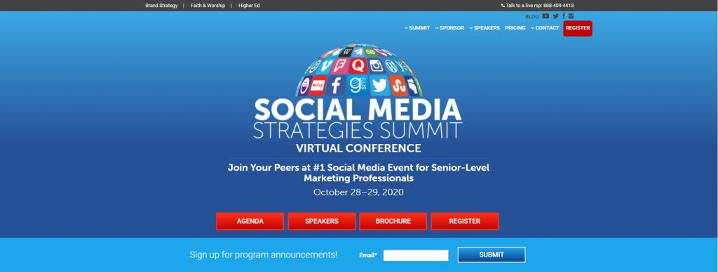 Social Media Strategies Summit Events
