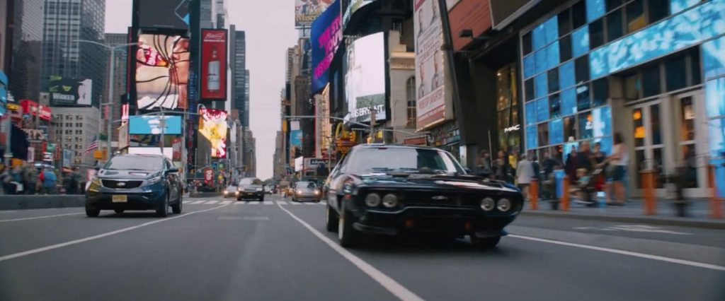 Times Square Brands The Fate of the Furious 3