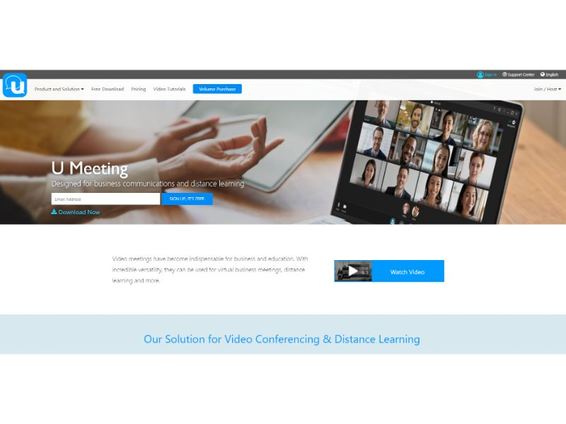 U Meeting Video Conferencing Platform