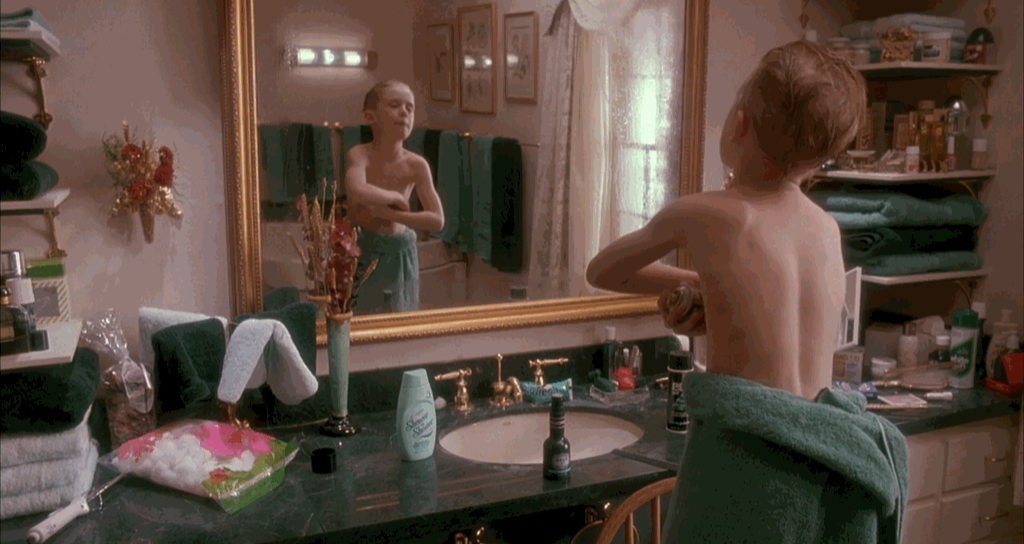 Shower to Shower Product Placement Home Alone