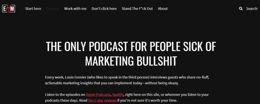 Everyone Hates Marketers podcasts